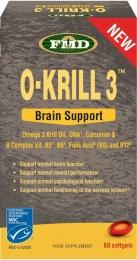 Масло Криля Омега 3 +Куркумин +витамины В для поддержки сердца и мозга! Необходимо в любом возрасте. Масло Криля вместо рыбьего жира! 854 мг, 60 капсул